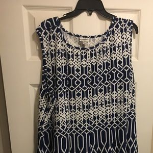 Sleeveless blue dress. Sz 30/32